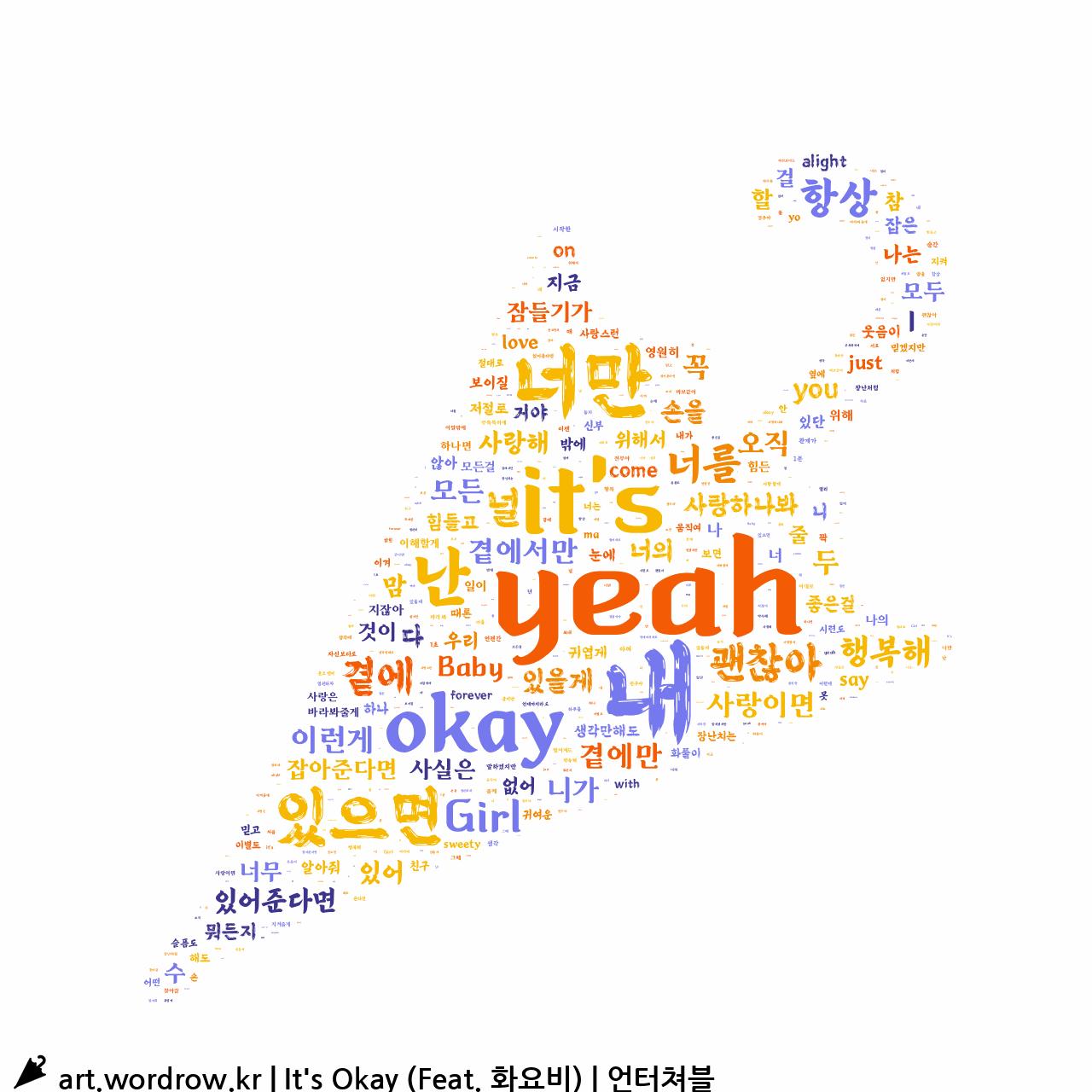 워드 클라우드: It's Okay (Feat. 화요비) [언터쳐블]-15
